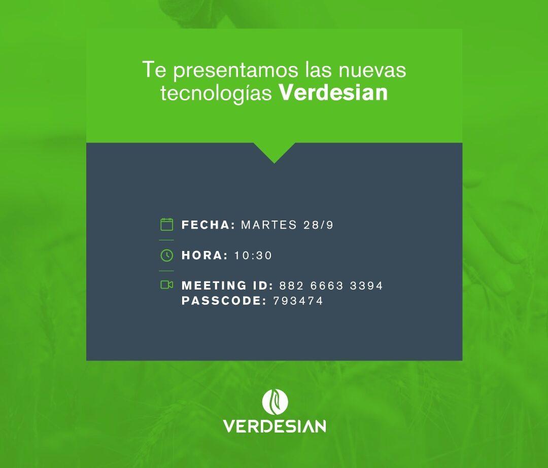 Verdesian invita a conocer sus nuevas tecnologías